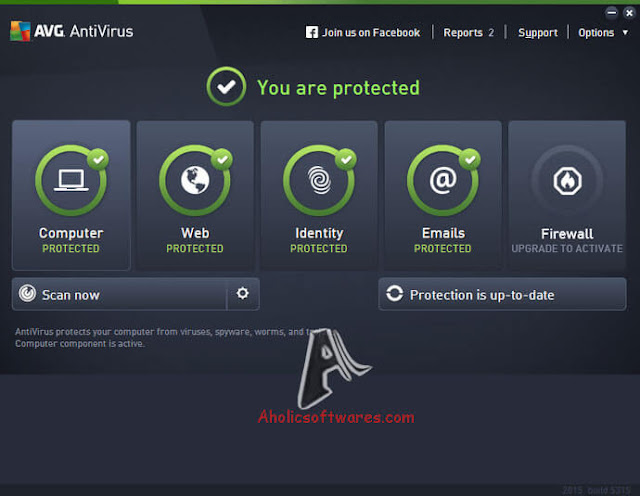 AVG Antivirus is a top-grade antivirus application with basic protection against all forms of malware, in addition to email, identity and web browsing safety.