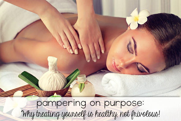 Pampering on Purpose - Why treating yourself is healthy, not frivolous! We all have stress, but too much stress can cause all sorts of problems. Pampering yourself can be a great way to relieve stress and stay healthy!