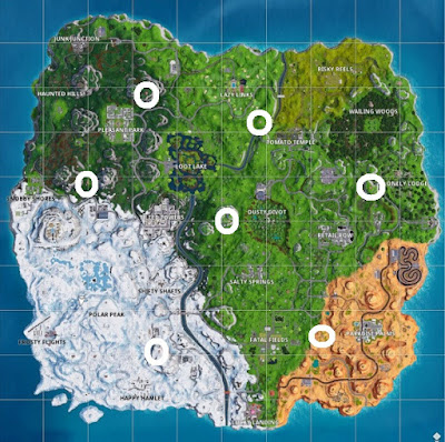 All Outpost Locations, Map Guide, Week 10, Season 7, Fortnite
