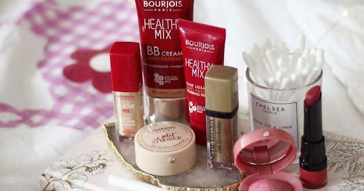 Full face and Test of Bourjois - Healthy Mix BB Cream, Le Duo Blush, Rouge Velvet The Lipstick