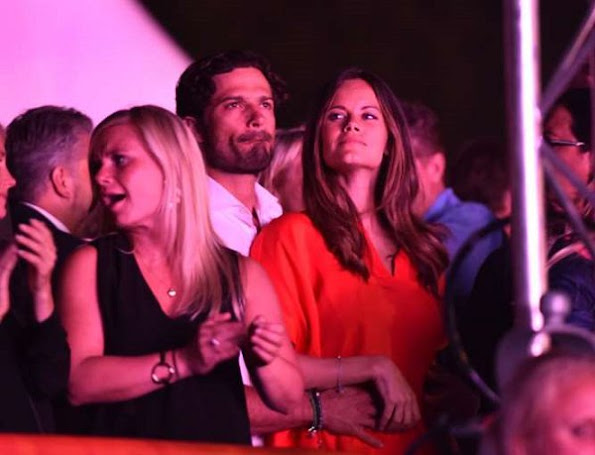 Prince Carl Philip and Princess Sofia Hellqvist attended the concert of DJ Avicii held at Malmö Stadium of Malmö