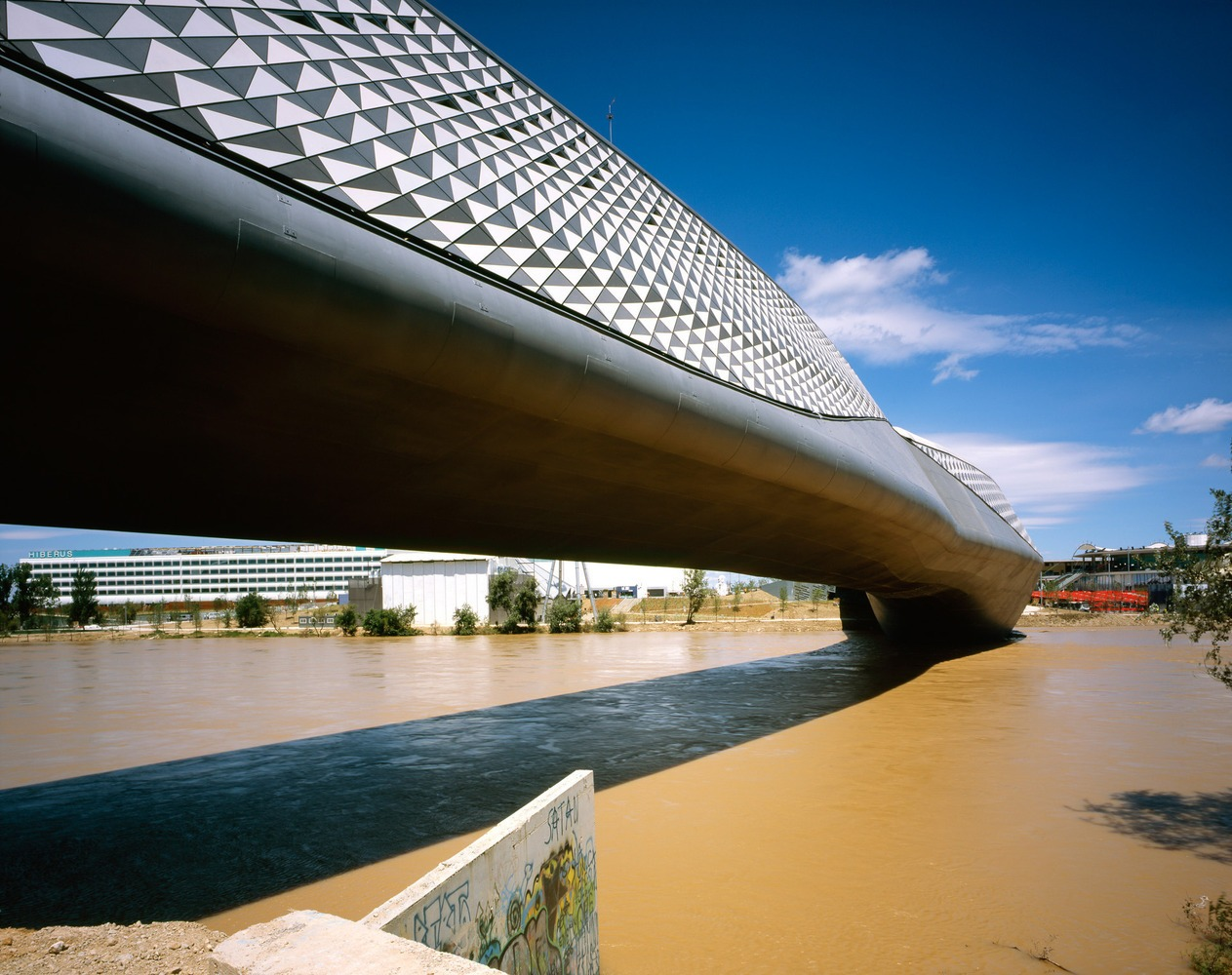 Bridge Pavilion in Zaragoza, Spain.