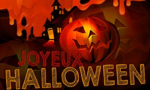 Joyeux halloween is the happy halloween in french animated gif Images