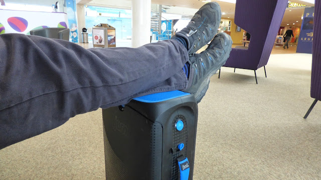The Jurni makes a good seat and foot rest - #MyJurni