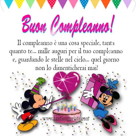 Famoso Il compleanno è una cosa speciale, tanta quanto te mille auguri  QM59