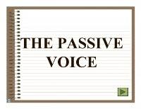 Reglas para formar la voz pasiva en ingles