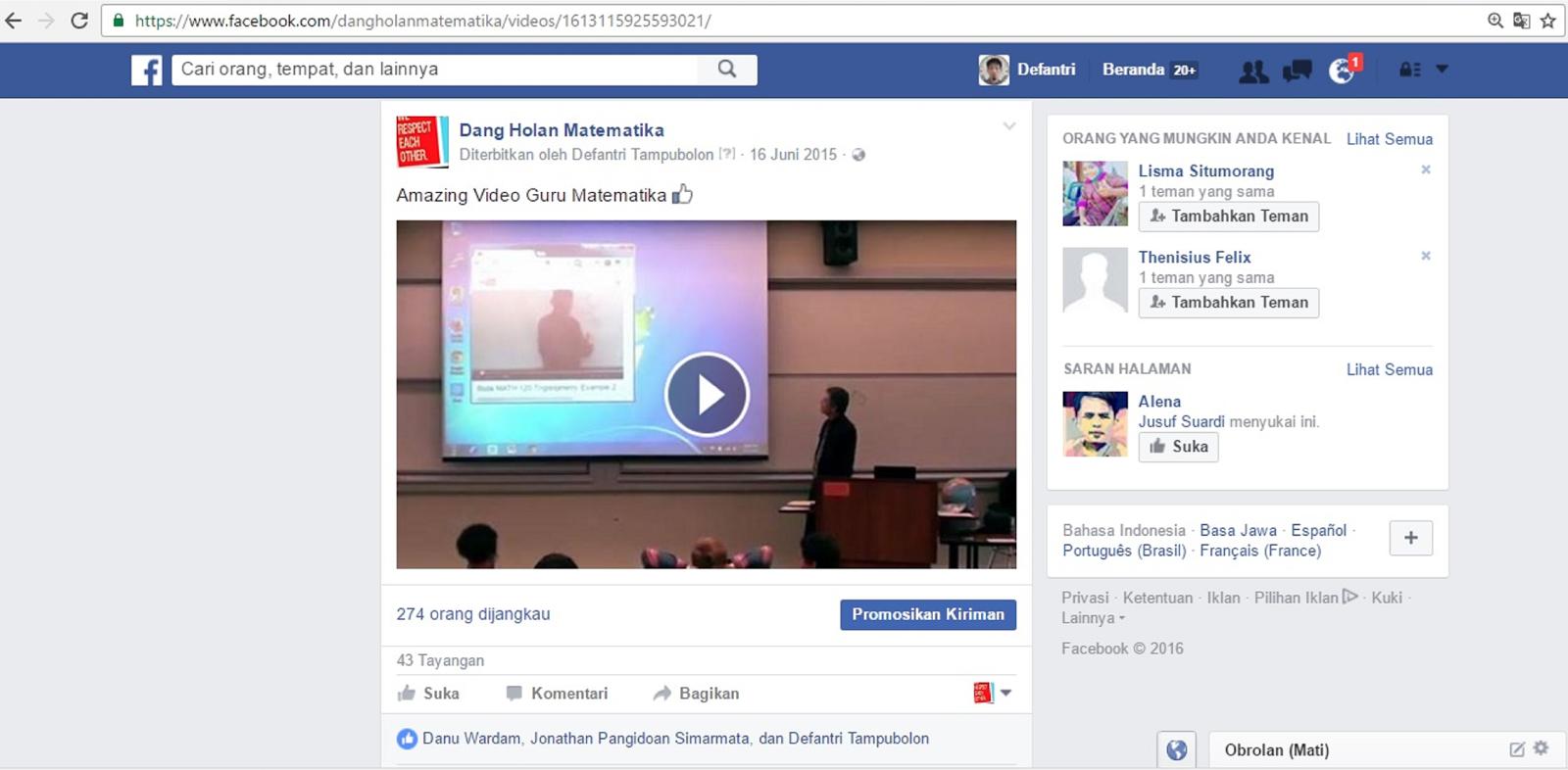 Cara Mudah Download Video Dari Facebook Tanpa Aplikasi Tambahan