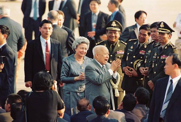 La Reine-Mère Norodom Monineath Sihanouk et le Roi Norodom Sihanouk