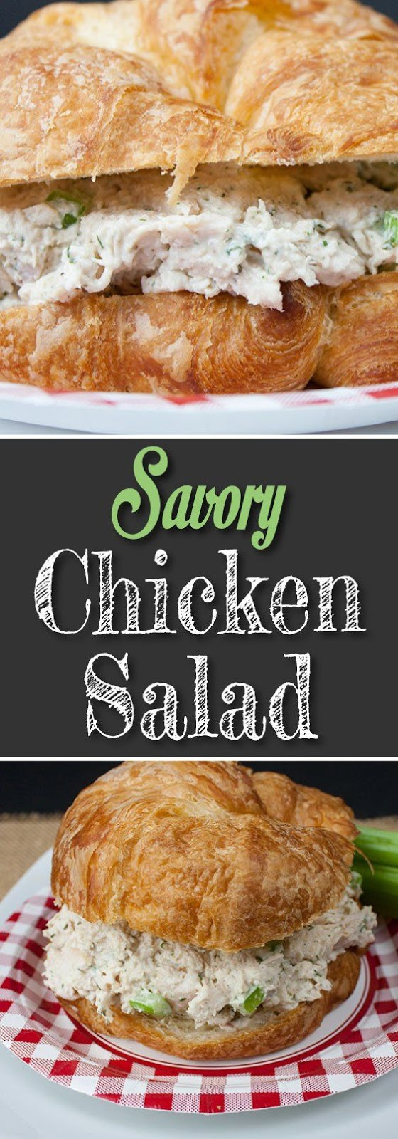 ★★★★☆ 1671 ratings      | Savory Chicken Salad Quick and Easy #Savory #Chicken #Salad #Quick #Easy