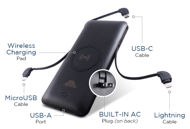 Scout - a new power bank with multiple cables and even a