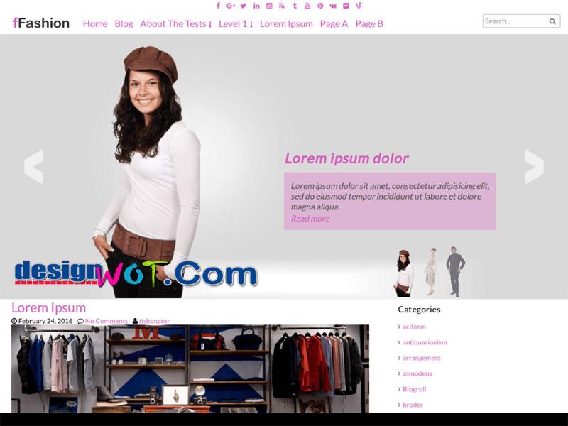 ffashion wordpress fashion theme
