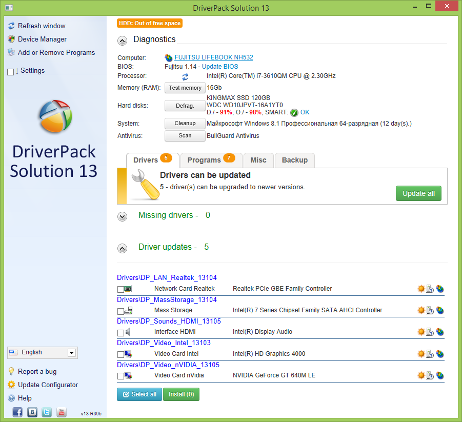 window 7 all drivers pack free download