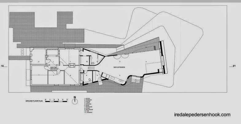 Plano de arquitectura planta de la casa