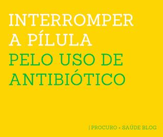 Interromper a pílula pelo uso de antibiótico