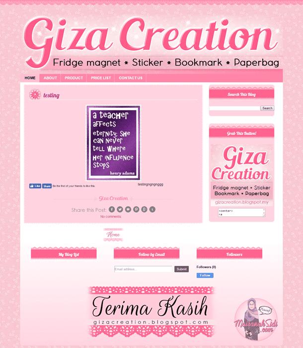 Design Blog Giza Creation