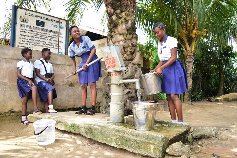 Unicef makes it easier for Girls in Cross River state, Nigeria to access to clean water