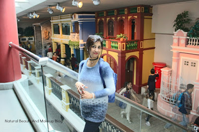 Mock streetview with house replicas installed at Macau Museum.