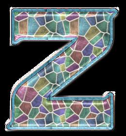 Abecedario hecho con Mosaicos de Color Pastel. Alphabet made with Pastel Color Mosaics.