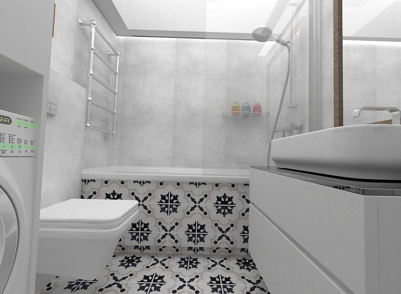 Pegaz Design Justyna łuczak Mała łazienka W Dwóch Odsłonach