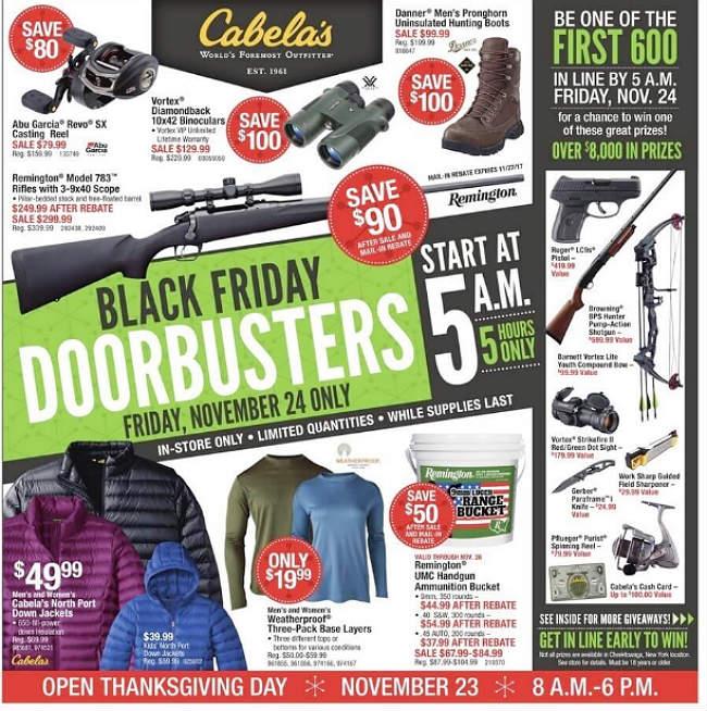 Cabela's Black Friday 2017 Ad