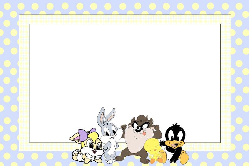 Tarjetas De Invitación De Los Baby Looney Tunes Imagui