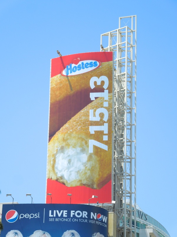 Hostess Twinkies countdown 2013 billboard