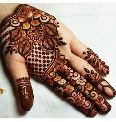 Simple Mehndi Design for Left Hand