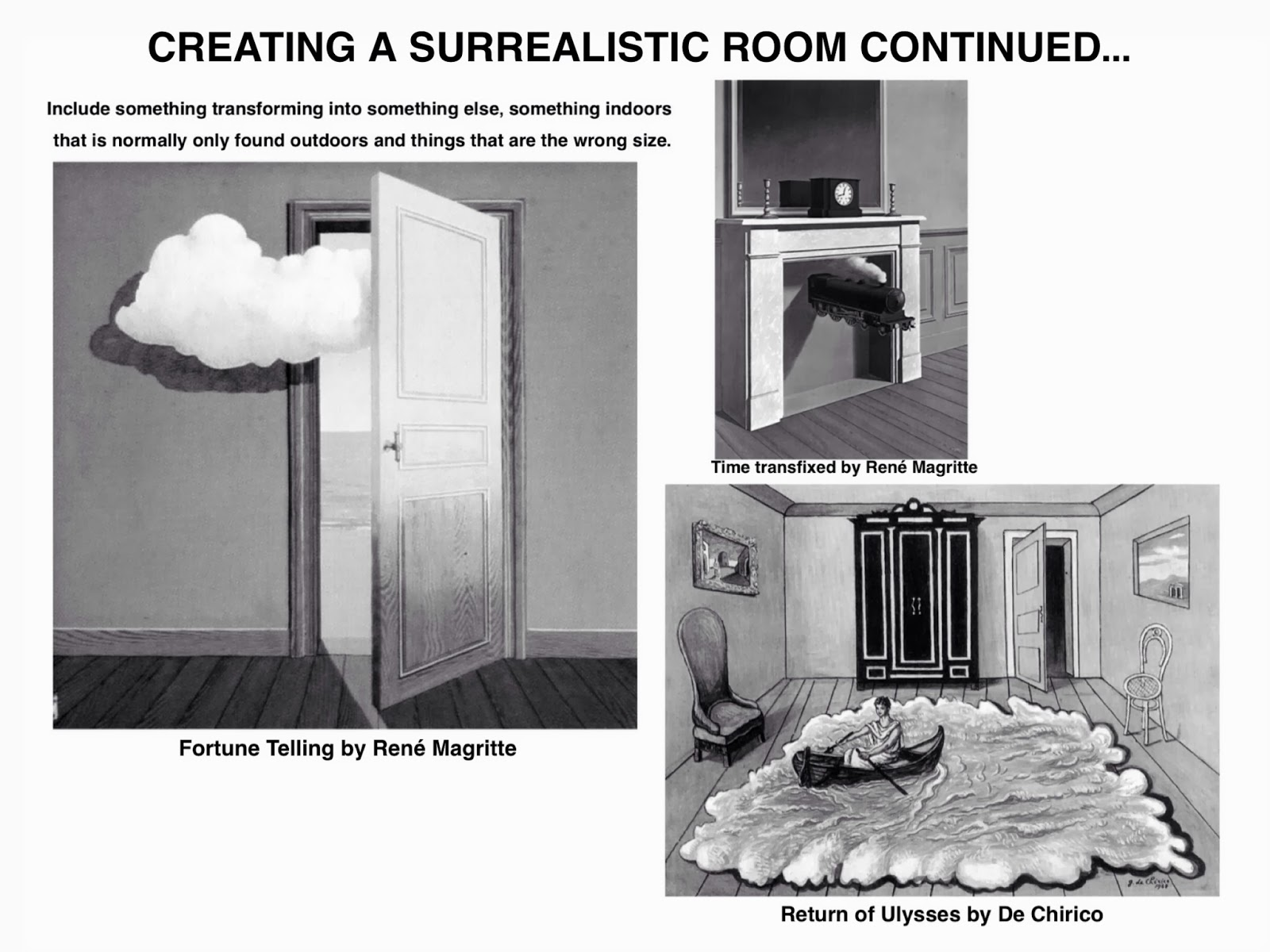 The Helpful Art Teacher Draw A Surrealistic Room In One Point Perspective