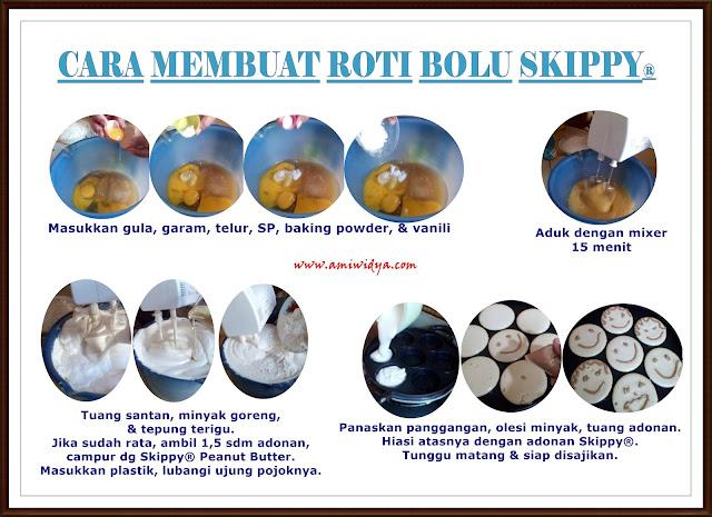 Cara membuat roti bolu Skippy