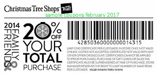 Christmas Tree Shops coupons february 2017