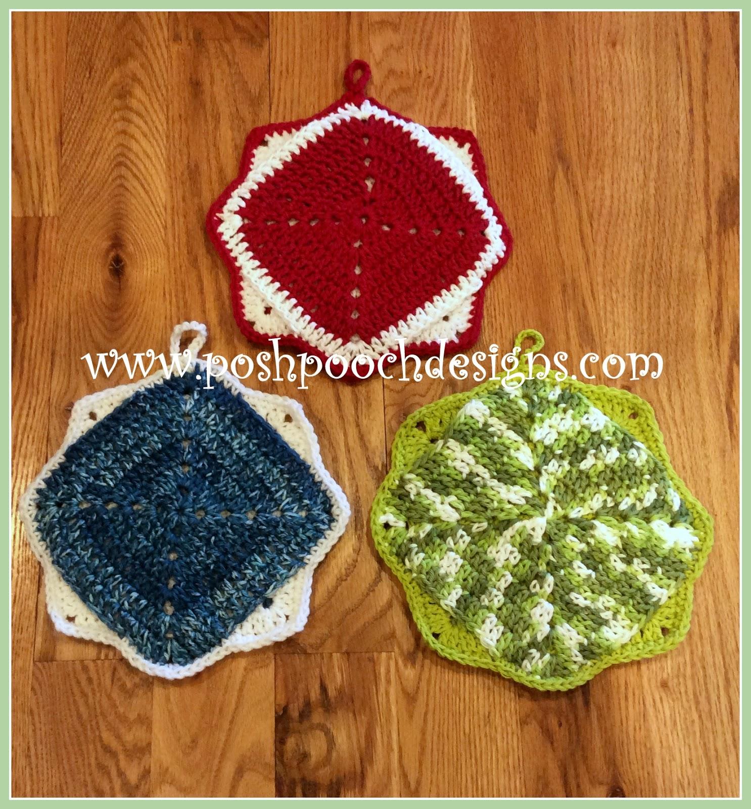 Posh Pooch Designs Dog Clothes: Triple Thick Pot Holder Crochet ...