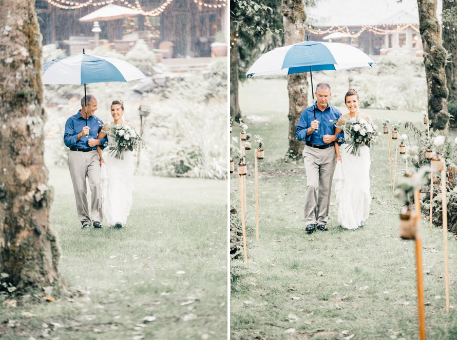 Romantic and Rainy Fall Washington Wedding by Something Minted Photography