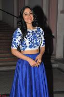 Regina Casandra in Stunning White Embroidery Crop Top Choli and Blue Ghagra at Santosham awards 2017 curtain raiser press meet 02.08.2017 021.JPG