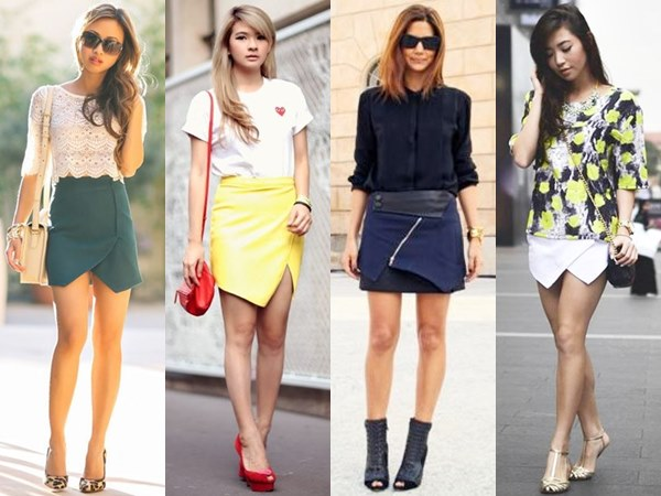 Wrap Mini Skirts
