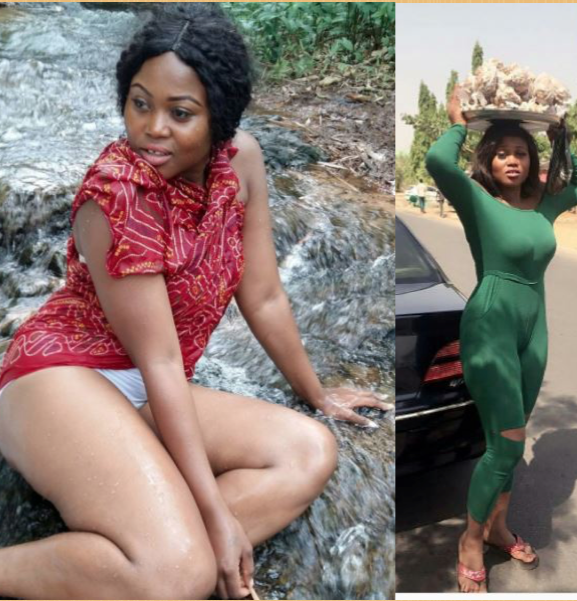 Gist: See What a Curvy Nollywood Actress Was Seen Doing on the Street of Lagos (Photos)