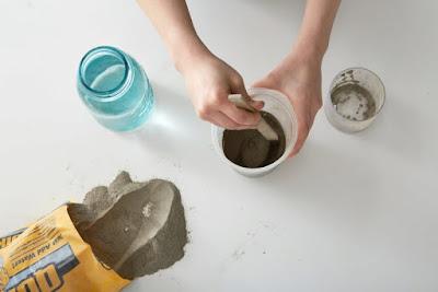 diy_projeler, kendin_yap, yesil_parmak, beton saksi, beton hazirlama, ilginc tasarimlar,