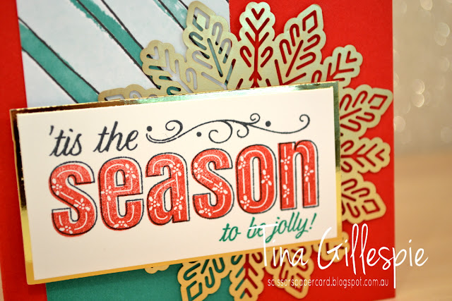 scissorspapercard, Stampin' Up!, Art With Heart, Watercolour Christmas Project Kit, Merry Patterns
