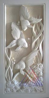 Relief tiga Ikan Hias