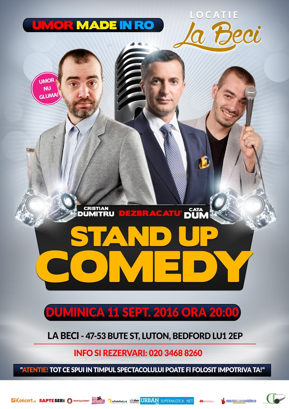 Stand-Up Comedy Duminica 11 Septembrie Luton