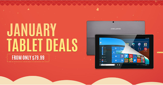 GearBest's January Tablet Deals - Get a Tablet From Only $79.99