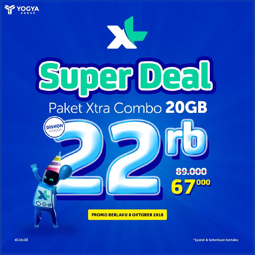 Yogya - Promo Super Deal Paket Xtra Combo 2G Cuma 67 Ribu (8 Okt 2018)