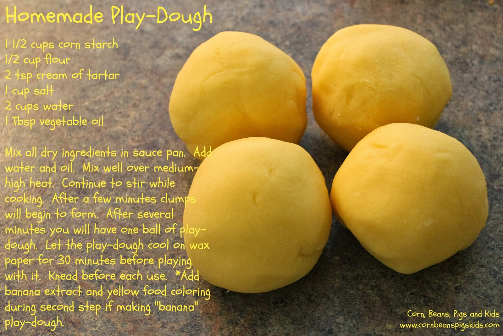 Homemade Play-Dough Recipe