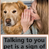 Talking to you pet is a sign of smartness