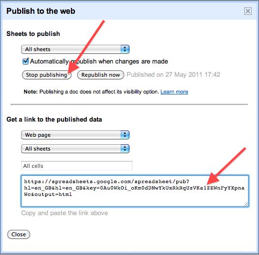 Spreadsheet Web