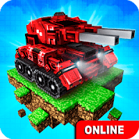 Blocky Cars Online Shooter FPS (God Mode - Max Armor) MOD APK