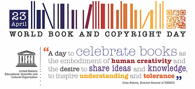 World Book and Copyright Day - 23 April  IMAGES, GIF, ANIMATED GIF, WALLPAPER, STICKER FOR WHATSAPP & FACEBOOK
