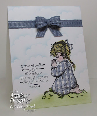 "ODBD ""Precious Girl"" and ""Gingham Background"" Card Designer Angie Crockett"