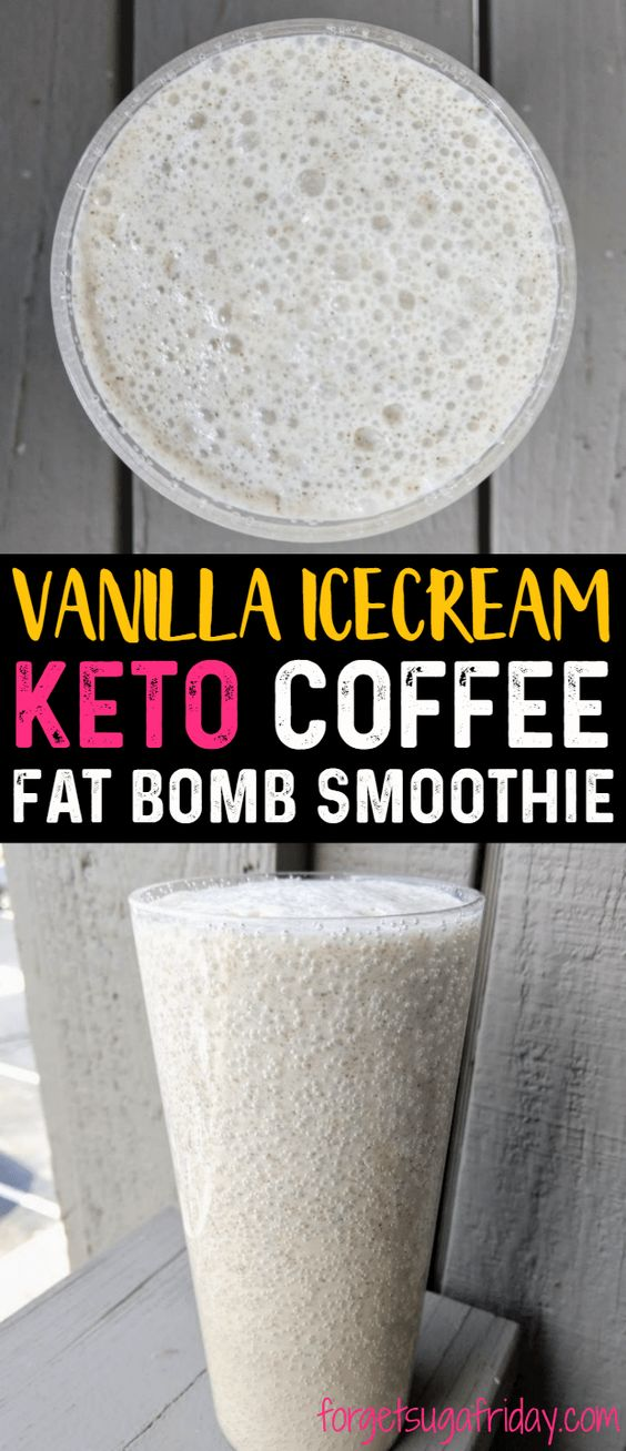 Vanilla Ice Cream Keto Coffee Smoothie