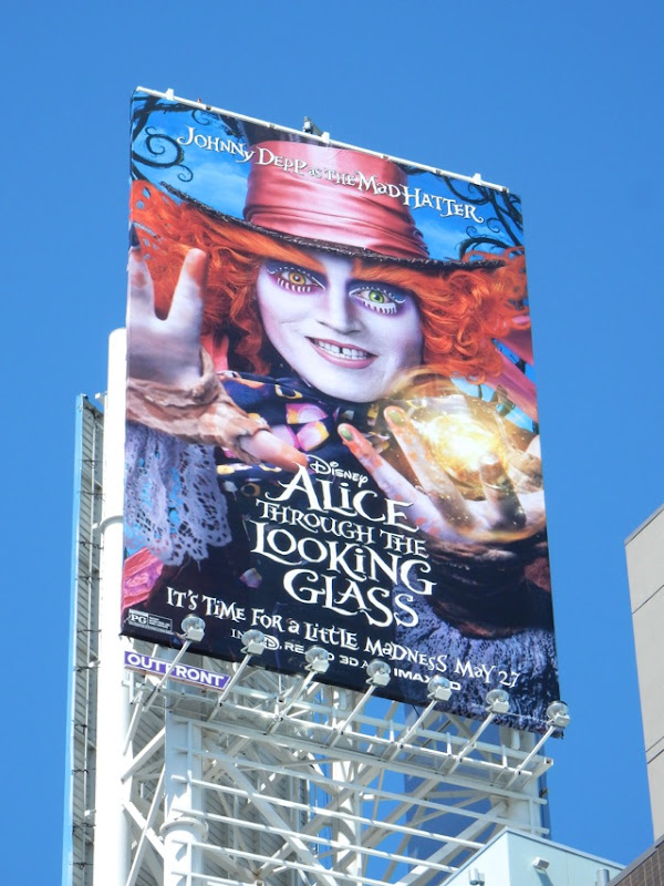 Alice through Looking Glass Mad Hatter billboard