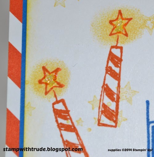 stampwithtrude.blogspot.com Stampin Up Big News birthday card